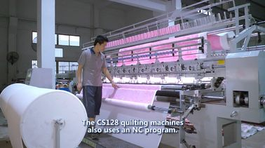 China High Performance 128 Inches Multi Needle Quilting Machine For Air Conditioner Quilt supplier