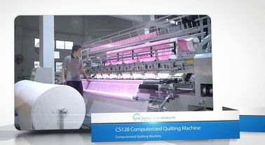 Three Needle Row Industrial Quilting Machines, Comforter Making Machine
